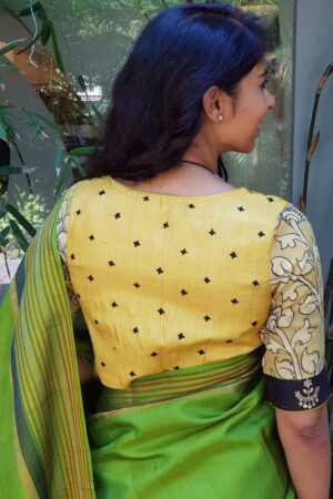 Yellow kutch work blouse1