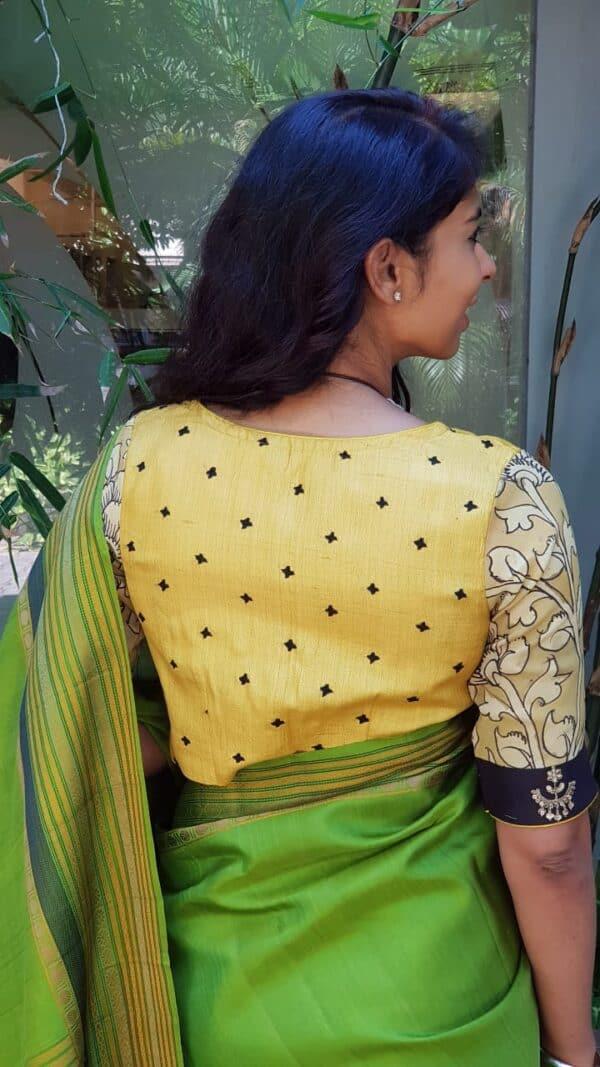 Yellow kutch work blouse1