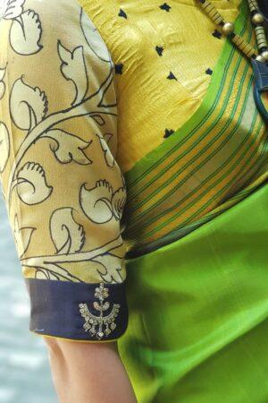 Yellow kutch work blouse2
