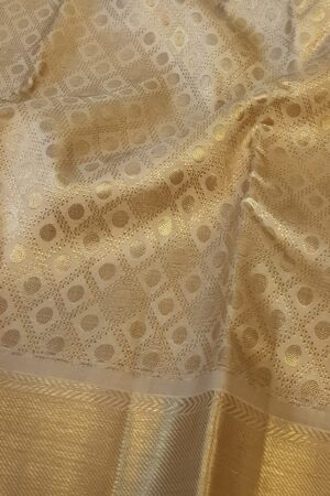 beige and gold bridal saree2