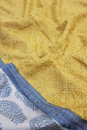 beige tussar saree with paisley and kutchwork border2