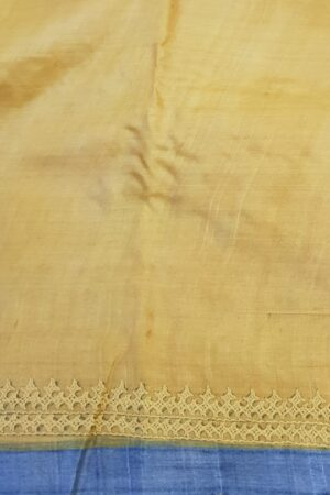 beige tussar saree with paisley and kutchwork border3