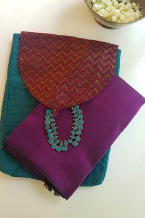 blue saree pouch1