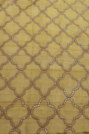 brown and yellow tussar saree4