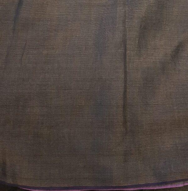 brown floral tussar saree2