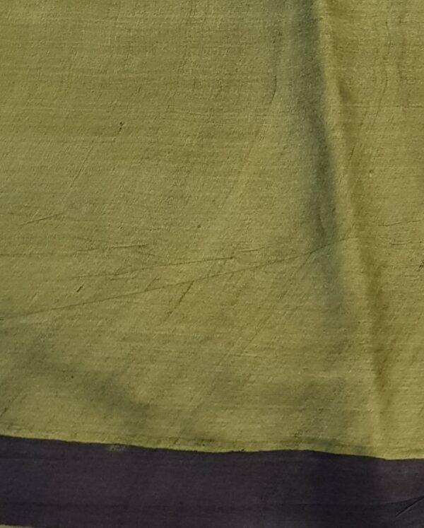 green paisley tussar saree3