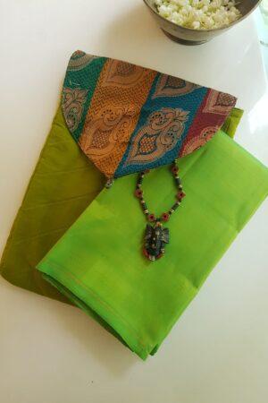 green saree pouch5