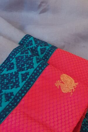 grey organza saree with silk kutch work border2