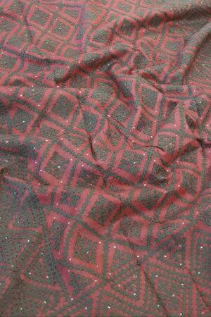 grey tussar saree with kutch work1