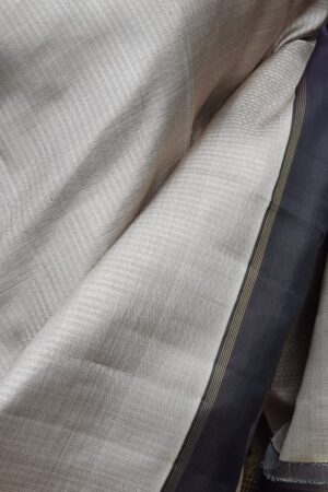 grey with black border kanchi silk saree3