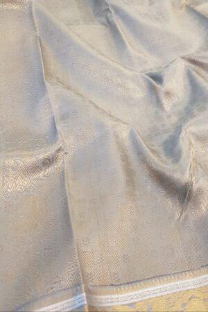 mustard and grey silk saree1