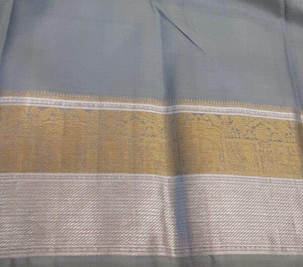 mustard and grey silk saree4