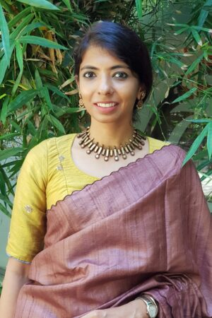 mustard embroidered tussar blouse
