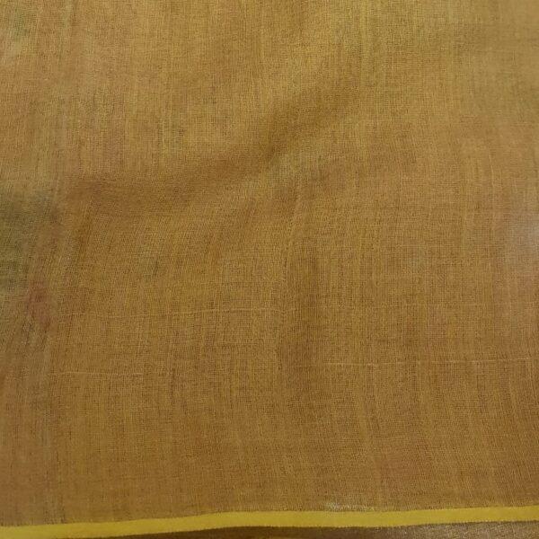 mustard floral printed sari3