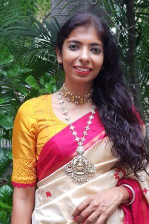mustard silk blouse