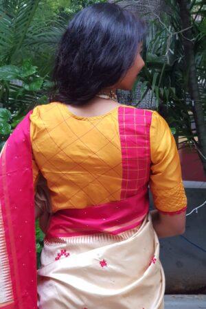 mustard silk blouse2
