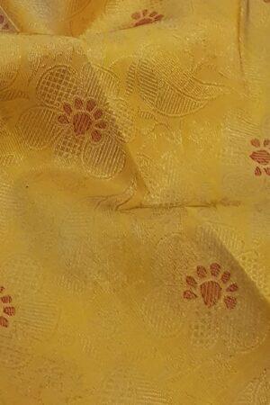 mustard silk saree with brocade1