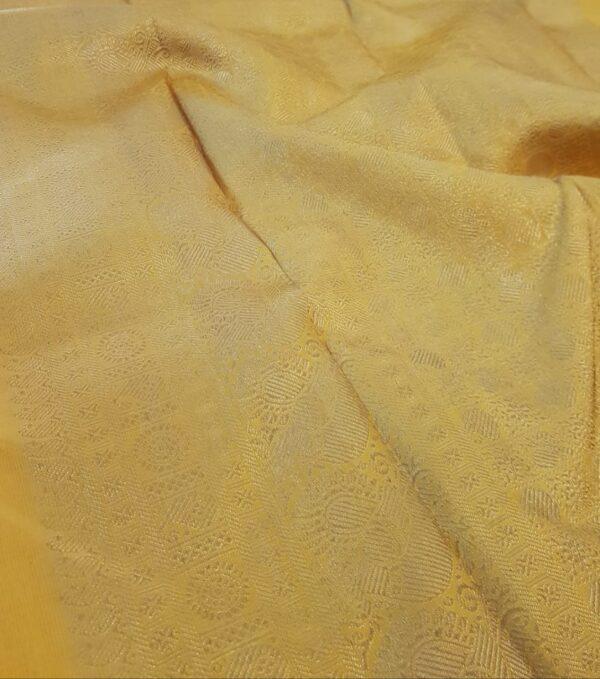 mustard silk saree with brocade3