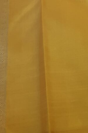 mustard silk saree with brocade4