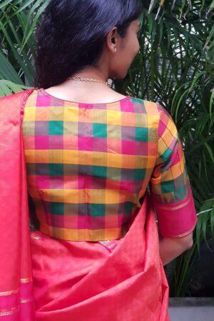 pallum pazhavum checks blouse1