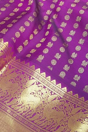 Violet mayil chakram with border1