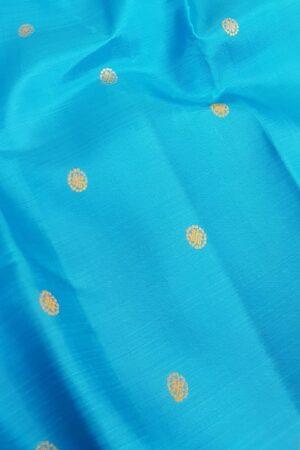 ananda blue meenakari saree3
