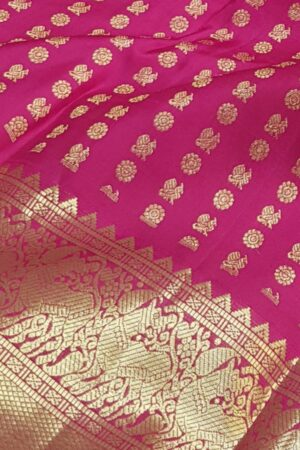 arakku pink mayil chakram with border