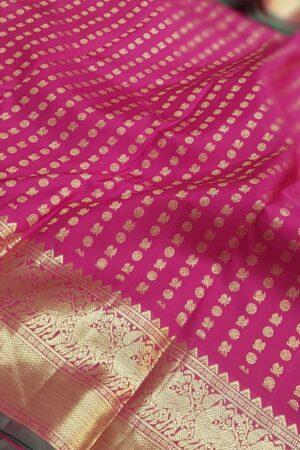 arakku pink mayil chakram with border1