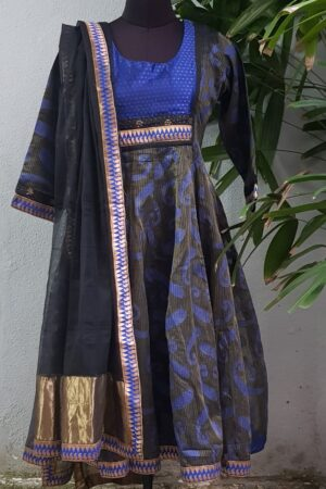 black and blue kota anarkali