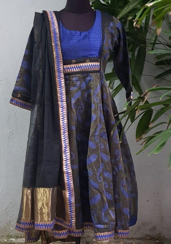 black and blue kota anarkali