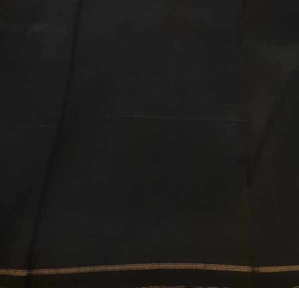 black and grey half and half silk saree with kalamkari4