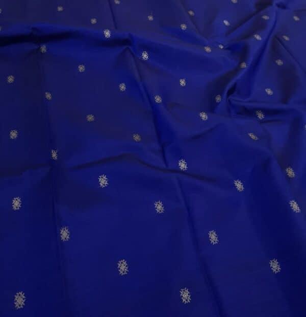 blue kanchi silk saree with buttis1