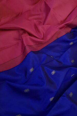 blue kanchi silk saree with buttis2