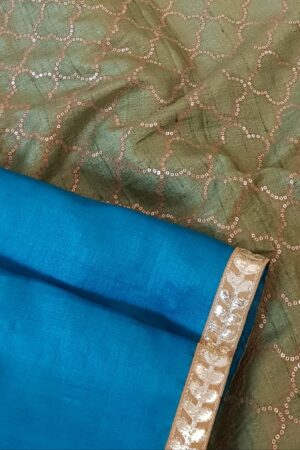 blue with green pallu2