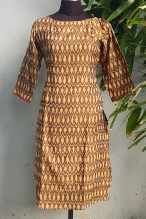 brown ikat top