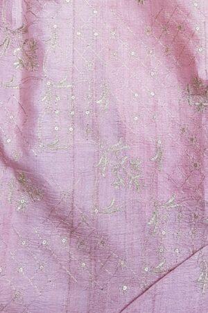 brown tussar saree with pink pallu6