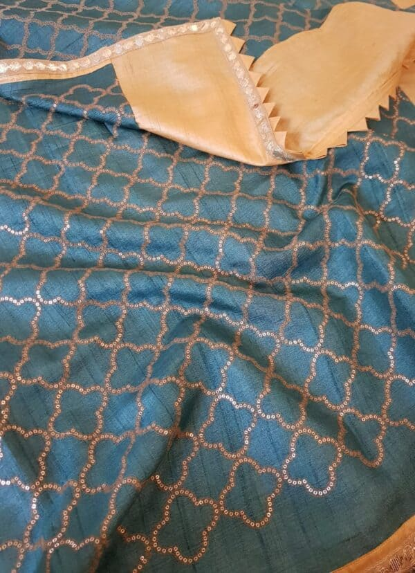 butter yellow with blue pallu1