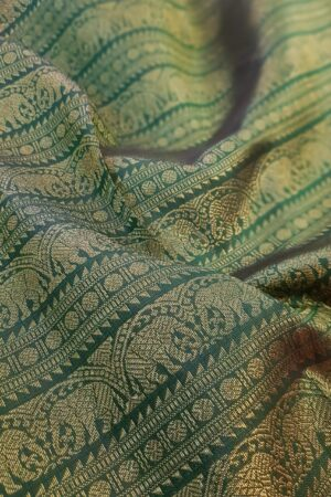 green and pink korvai saree2