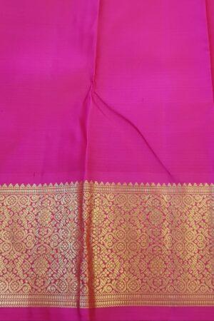 green and pink korvai saree5