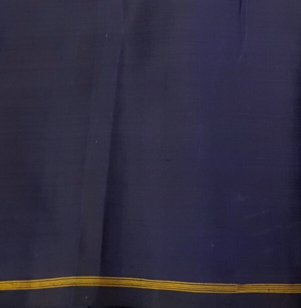 grey with blue half half kanchi silk saree3