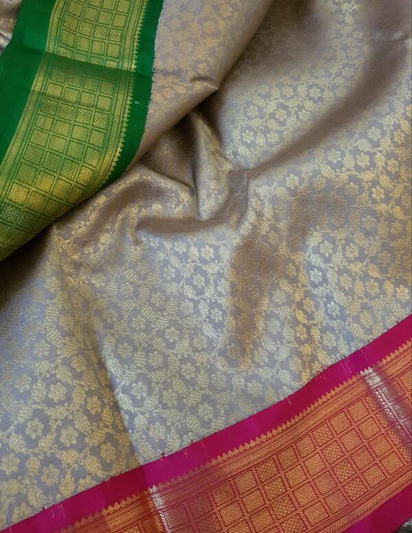 iced mocha korvai silk saree1