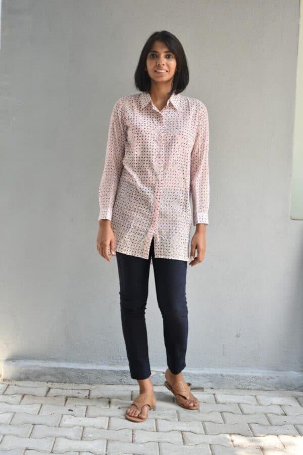 long shirt in georgette
