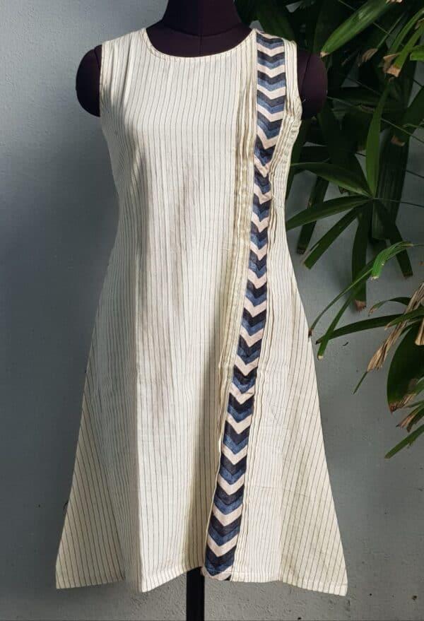 off white striped top