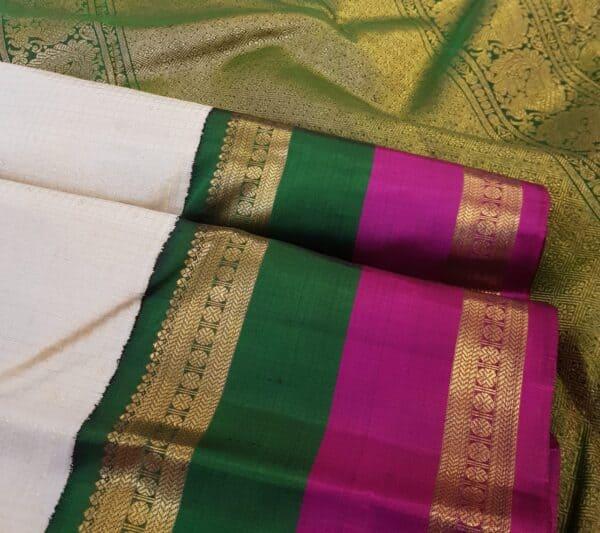 off white with double border korvai silk saree2