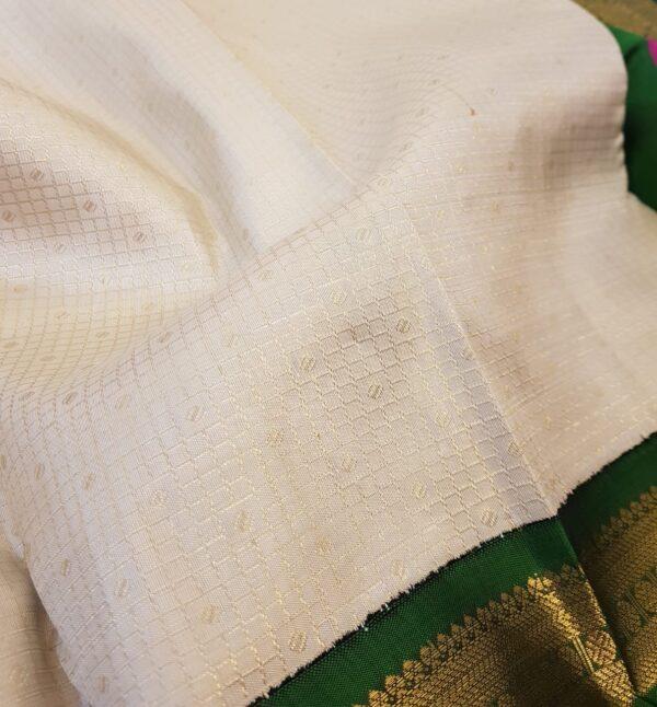 off white with double border korvai silk saree3
