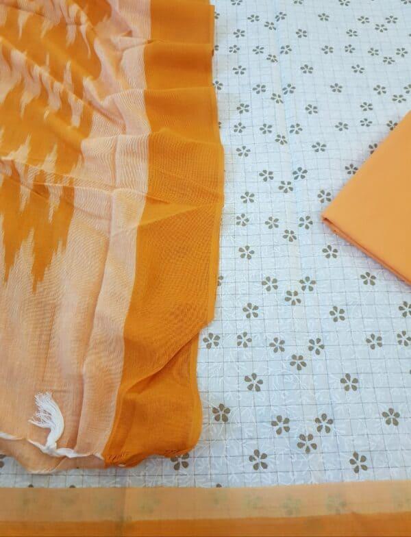 off white with orange