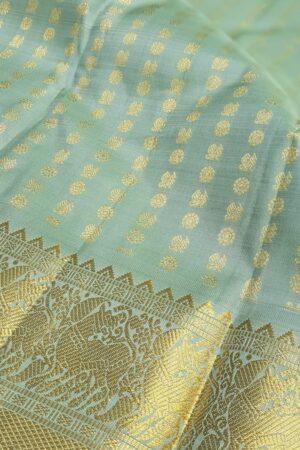 pale green silk with mayil chakram1