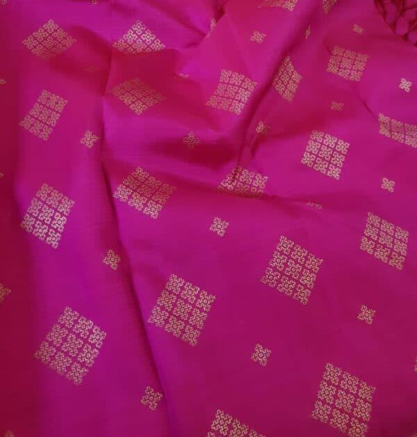 pink and green half and half kanchipuram silk saree2