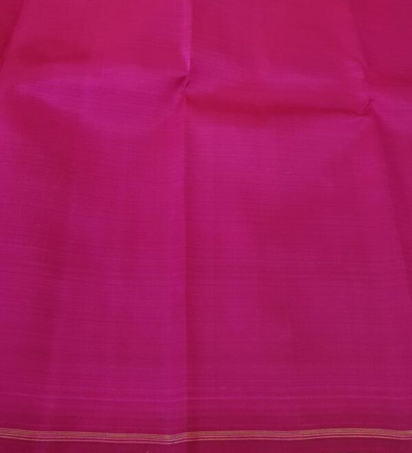 pink and green half and half kanchipuram silk saree6