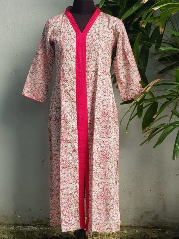 pink cotton printed top